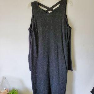 Philosophy/ Gray Cold Shoulder Dress